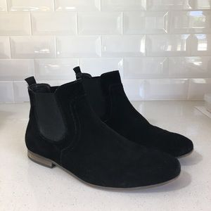 Rail by Nordstroms Suede Black Dress Boots